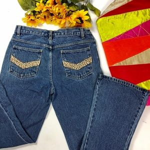 Denim - VTG 90s 🌟flared cheetah pocket denim